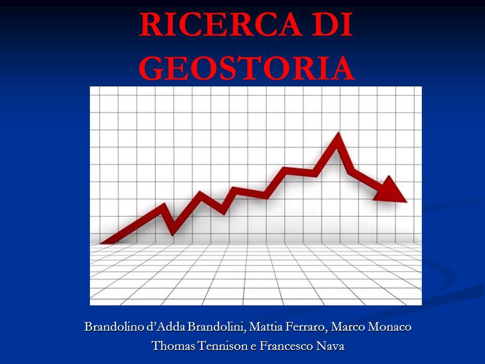 RICERCA DI GEOSTORIA Brandolino d'Adda Brandolini, Mattia Ferraro, Marco Monaco Thomas Tennison e Francesco Nava