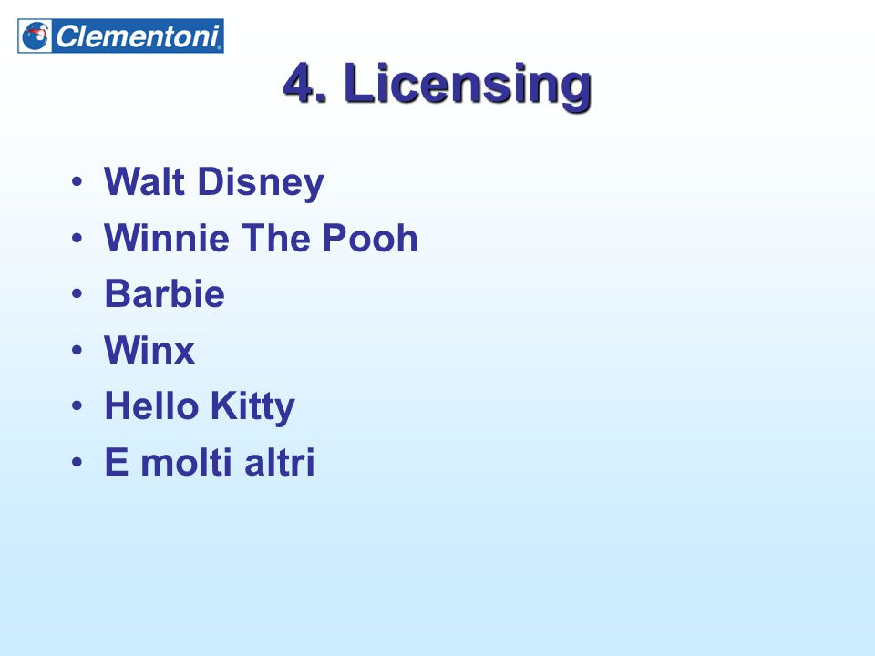 4. Licensing Walt Disney Winnie The Pooh Barbie Winx Hello Kitty E molti altri