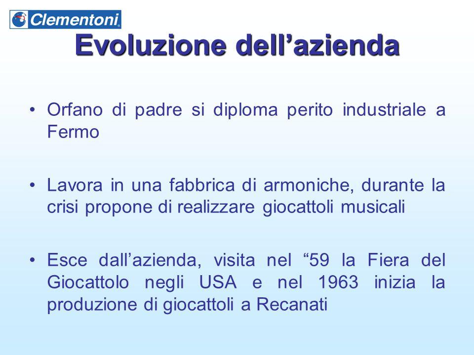 Evoluzione dell'azienda Orfano di padre si diploma perito industriale a Fermo Lavora in una fabbrica di armoniche, durante la crisi propone di realizz
