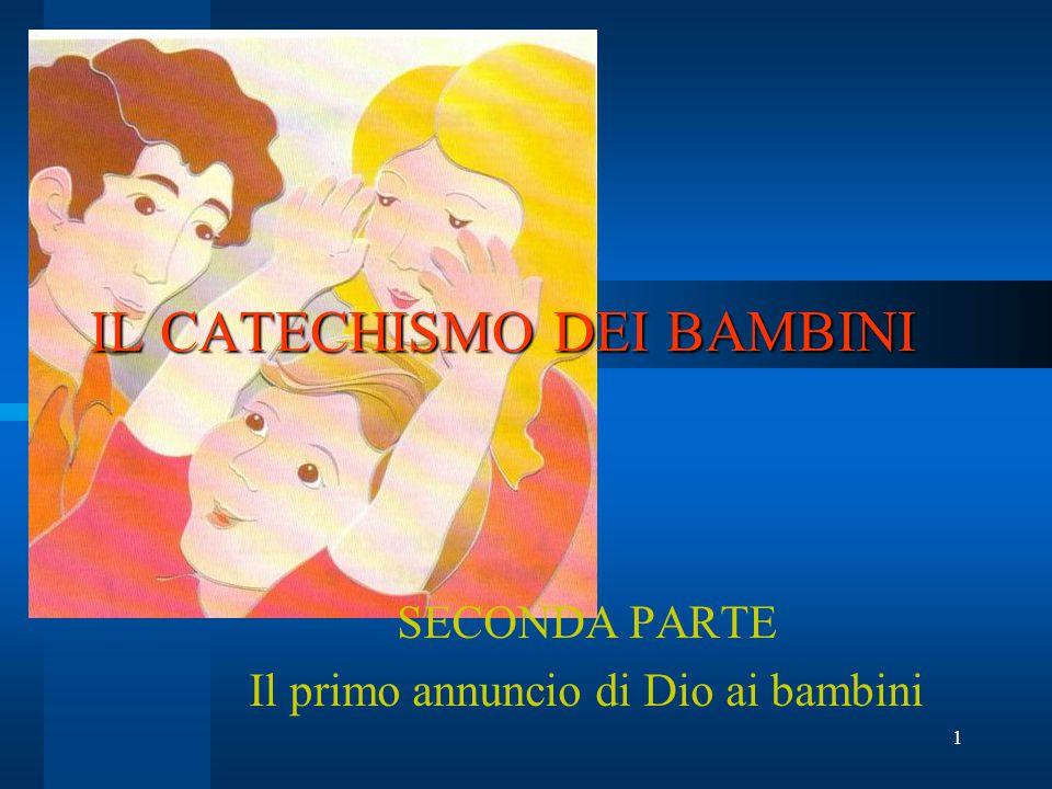 1 IL CATECHISMO DEI BAMBINI SECONDA PARTE Il primo annuncio di Dio ai bambini