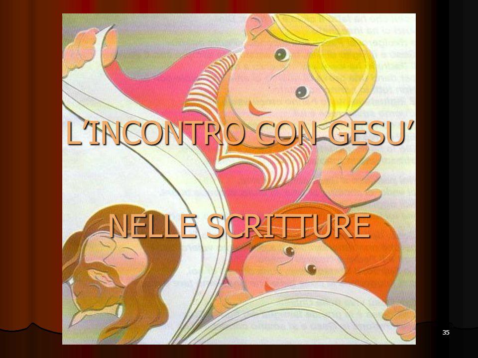 35 L'INCONTRO CON GESU' NELLE SCRITTURE