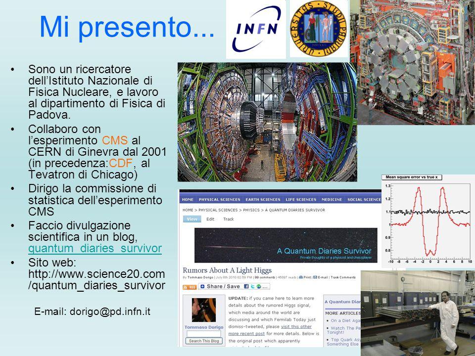 Mi presento... Sono un ricercatore dell'Istituto Nazionale di Fisica Nucleare, e lavoro al dipartimento di Fisica di Padova. Collaboro con l'esperimen
