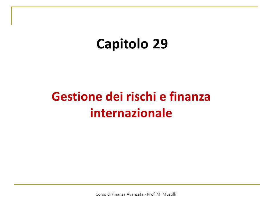 Capitolo 29 Gestione dei rischi e finanza internazionale Corso di Finanza Avanzata - Prof.