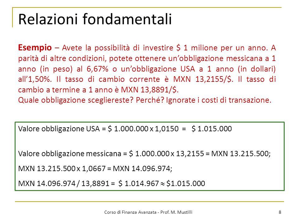 8 Corso di Finanza Avanzata - Prof.M.