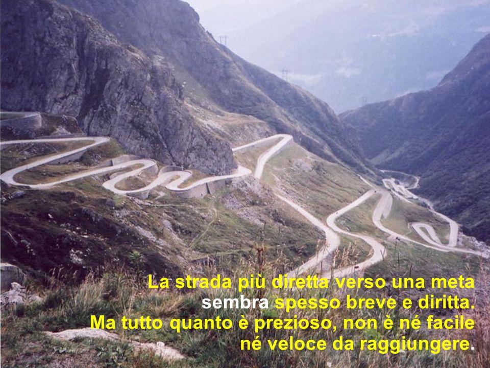 La strada più diretta verso una meta sembra spesso breve e diritta.