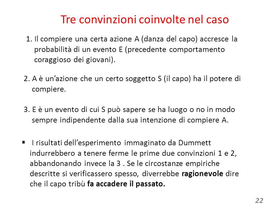 22 Tre convinzioni coinvolte nel caso 1.