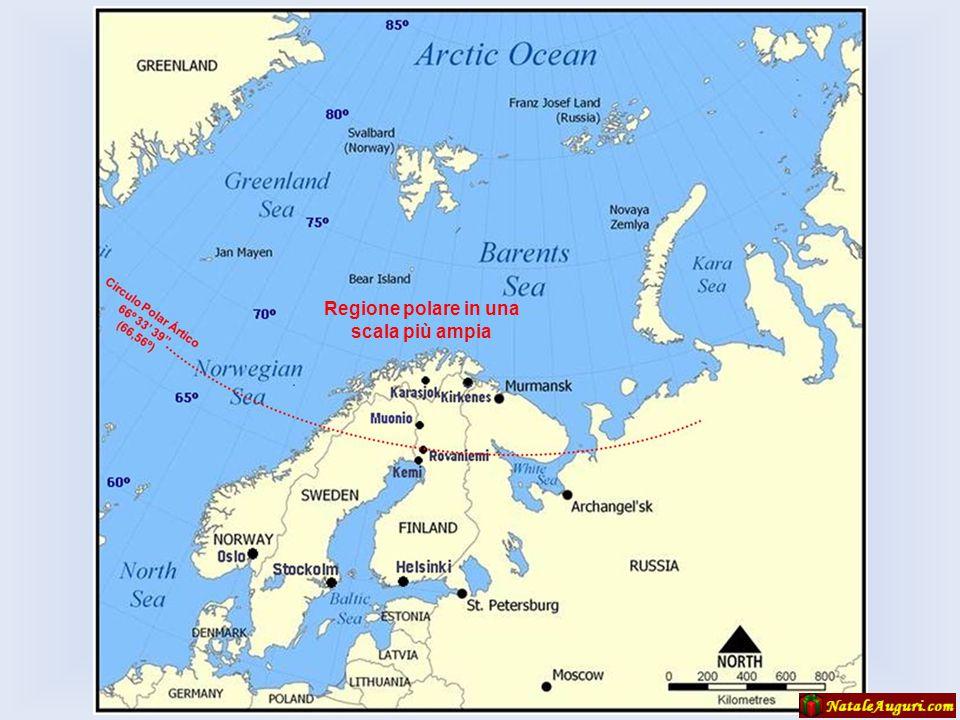 Artic Circle La Lapponia è una parte della penisola scandinava, che si trova per lo più all'interno del circolo polare, e si estende attraverso quattr
