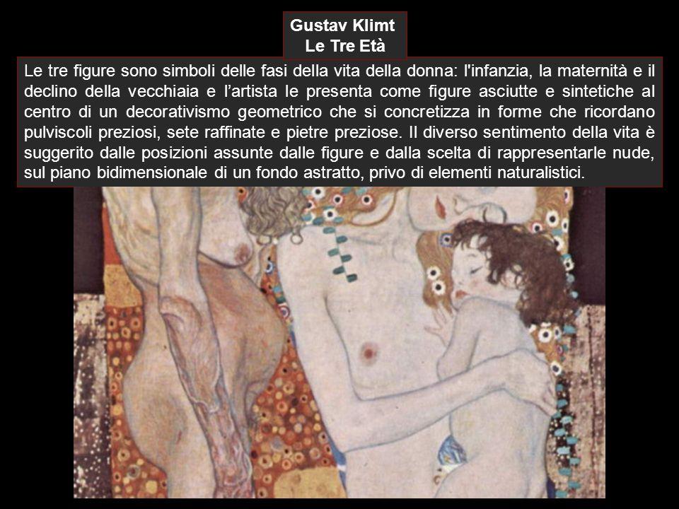 Le tre figure sono simboli delle fasi della vita della donna: l'infanzia, la maternità e il declino della vecchiaia e l'artista le presenta come figur