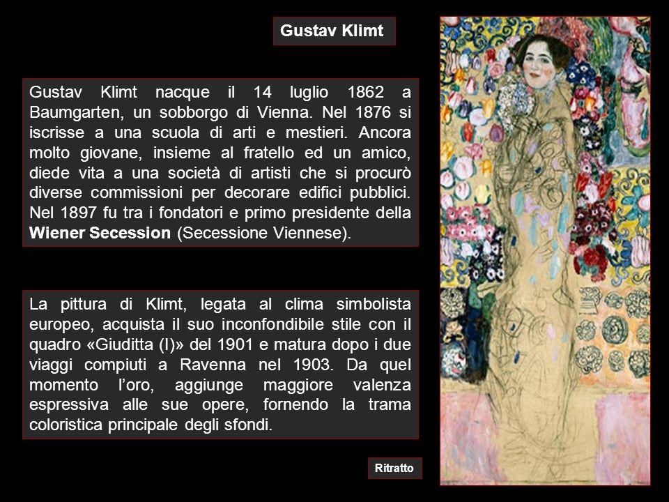Gustav Klimt La pittura di Klimt, legata al clima simbolista europeo, acquista il suo inconfondibile stile con il quadro «Giuditta (I)» del 1901 e mat