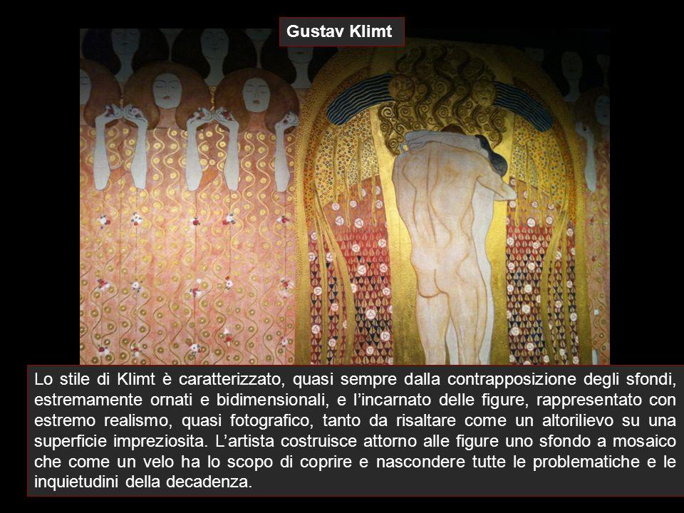 Lo stile di Klimt è caratterizzato, quasi sempre dalla contrapposizione degli sfondi, estremamente ornati e bidimensionali, e l'incarnato delle figure