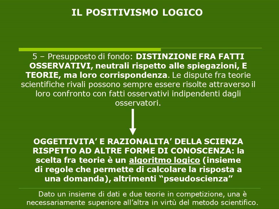 Non esiste alcun ALGORITMO LOGICO E OGGETTIVO DEL CAMBIAMENTO SCIENTIFICO (VS neopositivismo) IL CAMBIAMENTO SCIENTIFICO NON E' UNA RIVOLUZIONE ININTERROTTA E PERMANENTE (VS falsificazionismo) Non c'è una crescita per accumulazione positiva di conoscenze UNA ROTTURA EPISTEMOLOGICA RADICALE