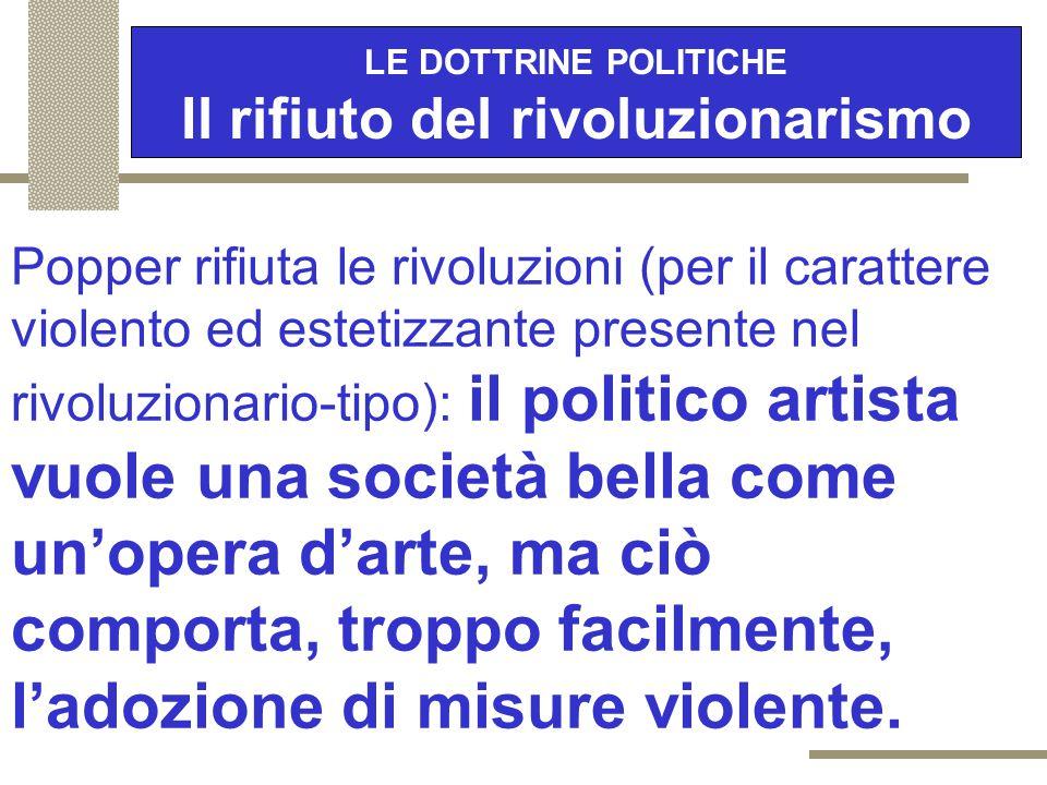 """LE DOTTRINE POLITICHE Che cosa è la democrazia 2/2 """"Come possiamo organizzare le istituzioni politiche in modo da impedire che i governanti cattivi o"""