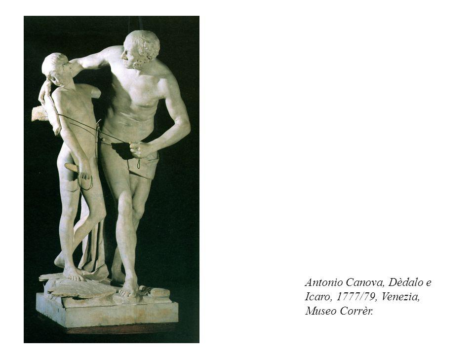 Antonio Canova, Dèdalo e Icaro, 1777/79, Venezia, Museo Corrèr.