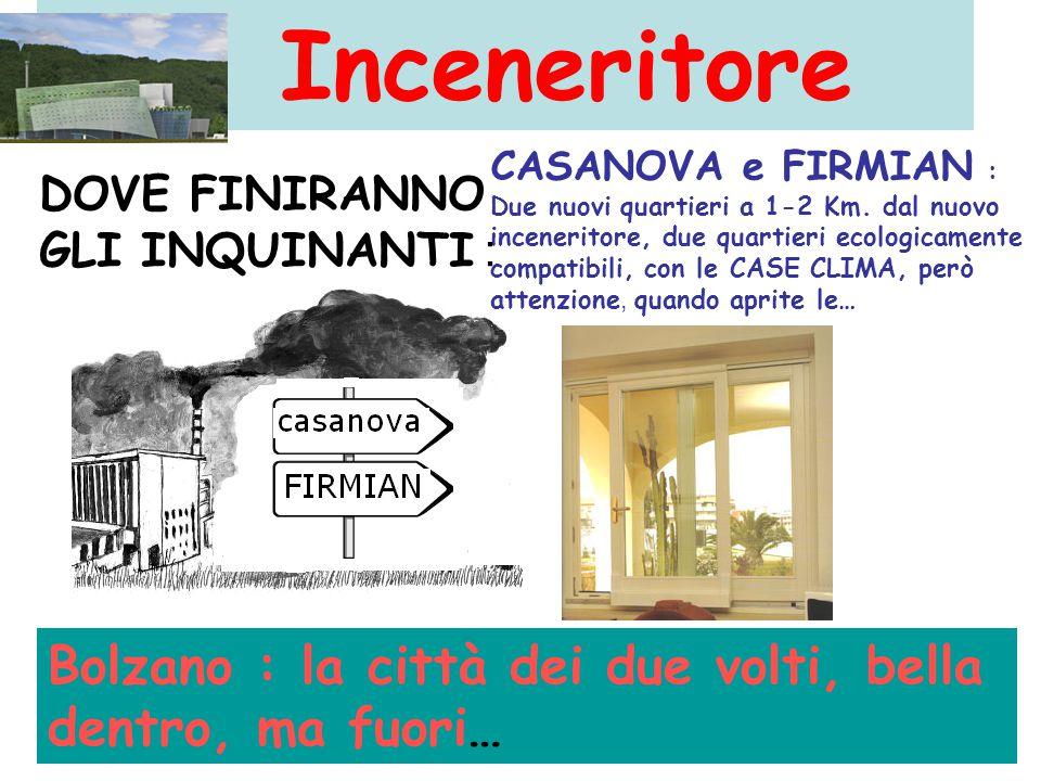 Inceneritore CASANOVA e FIRMIAN : Due nuovi quartieri a 1-2 Km.