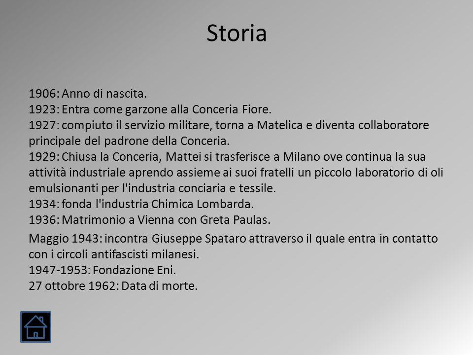 Storia 1906: Anno di nascita. 1923: Entra come garzone alla Conceria Fiore.