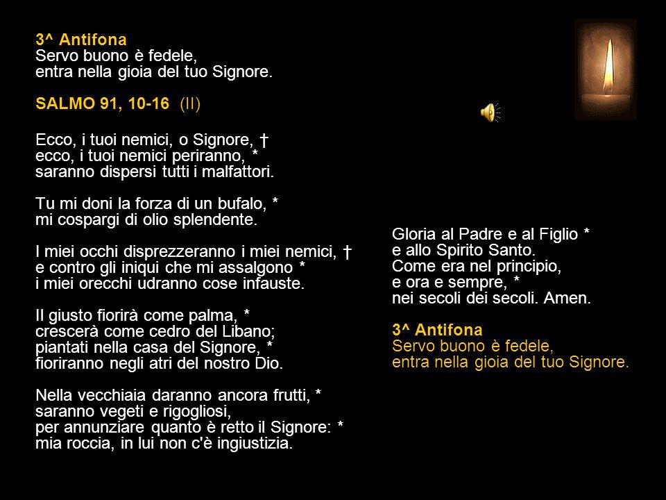 2^ Antifona Quando apparirà il Pastore supremo, sarete coronati di gloria immortale.