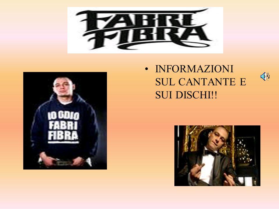 INFORMAZIONI SUL CANTANTE E SUI DISCHI!!