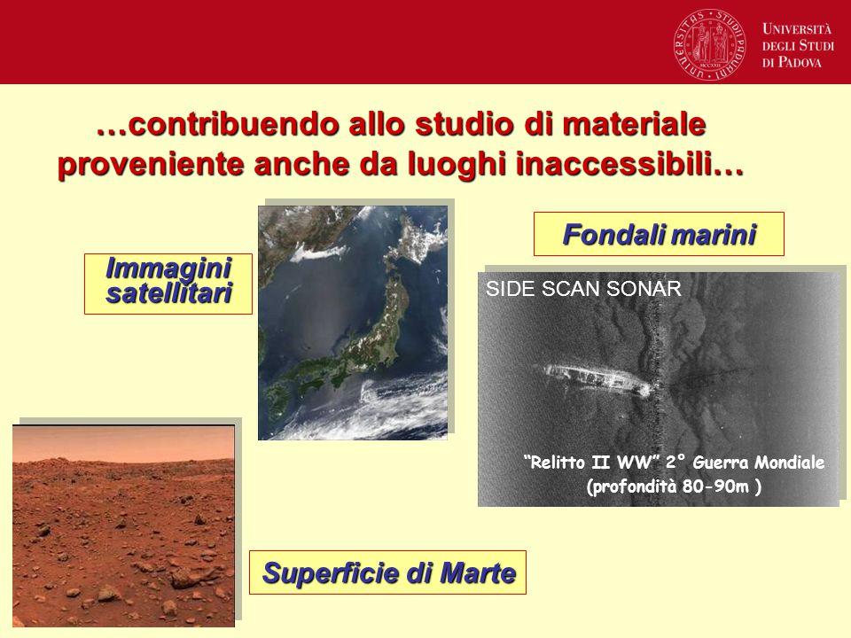 """…contribuendo allo studio di materiale proveniente anche da luoghi inaccessibili… """"Relitto II WW"""" 2° Guerra Mondiale (profondità 80-90m ) SIDE SCAN SO"""