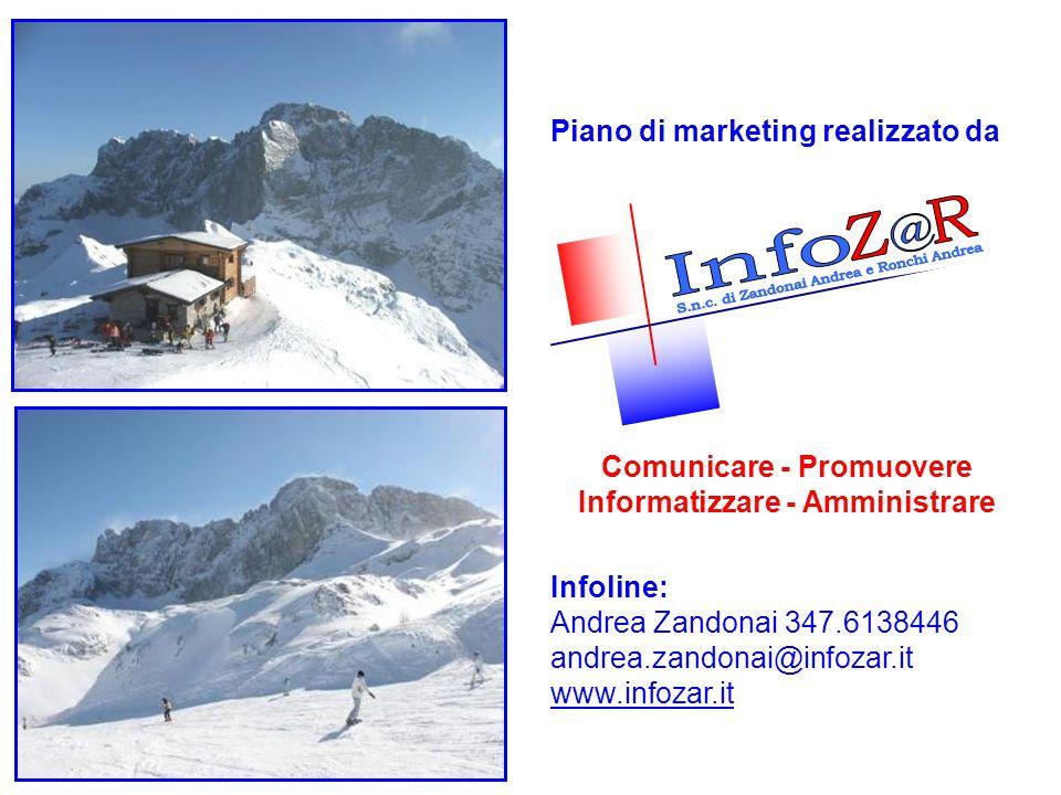Piano di marketing realizzato da Comunicare - Promuovere Informatizzare - Amministrare Infoline: Andrea Zandonai 347.6138446 andrea.zandonai@infozar.i