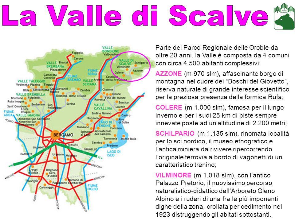 COME ARRIVARE da Brescia: percorrere la strada sebina orientale fino a Darfo Boario Terme, poi al bivio proseguire per SS 294 della Valle di Scalve (la Via Mala ); da Milano: - percorrere circa 100 km passando per Bergamo, proseguire poi lungo la SS 42 fino a Darfo Boario Terme e svoltare per la SS 294 della Valle di Scalve (la Via Mala ); - percorrere circa 100 km passando per Bergamo, proseguire per Clusone e attraversare il Passo della Presolana.