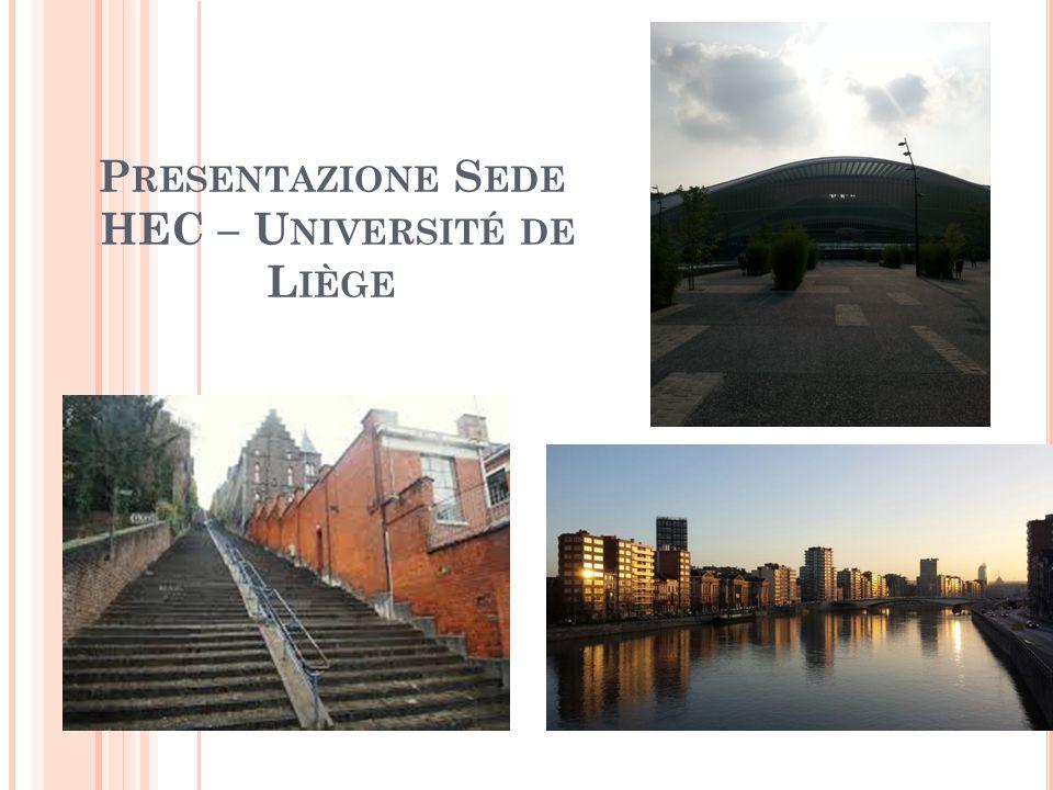 Punti essenziali della città Blu: stazione centrale Rosso: Sede HEC Arancione: Sede università Verde: Carrè, alias PARTY