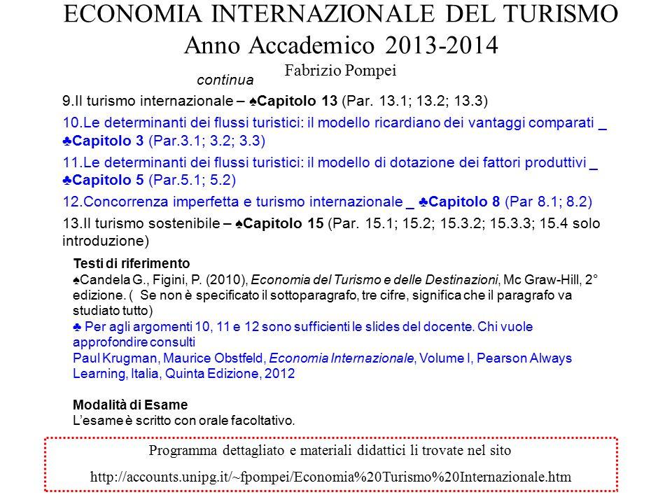 INCREMENTI IN VALORE ASSOLUTO PER AREA (World Tourism Barometer, 2014)