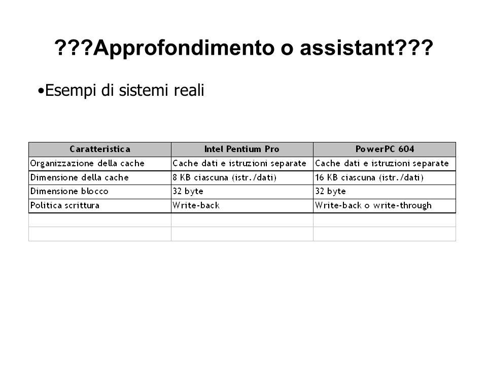 Approfondimento o assistant Esempi di sistemi reali