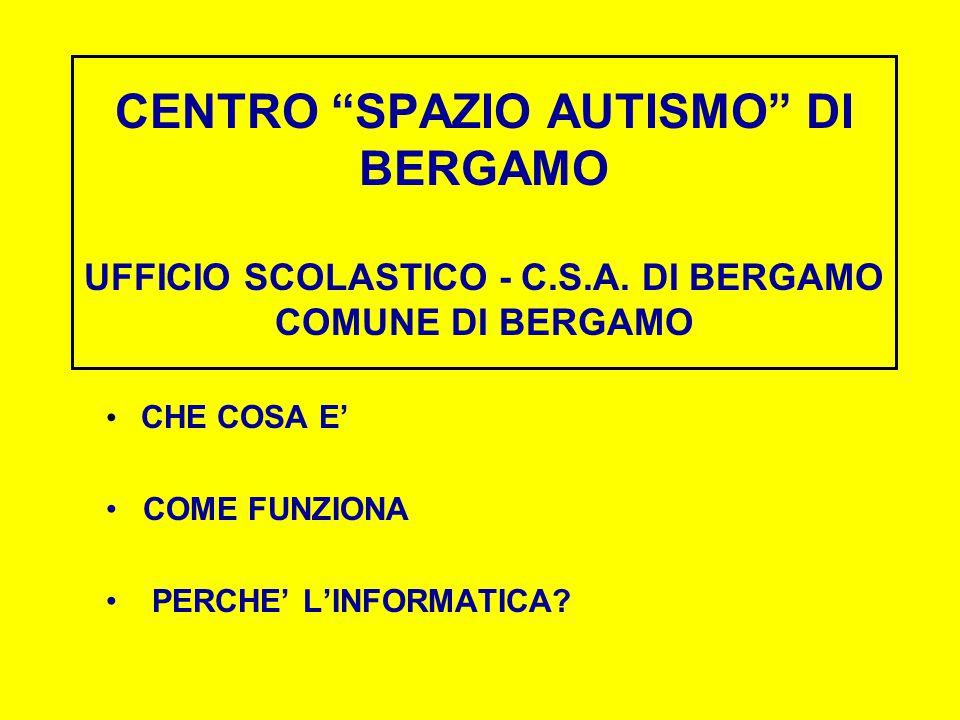 CENTRO SPAZIO AUTISMO DI BERGAMO UFFICIO SCOLASTICO - C.S.A.