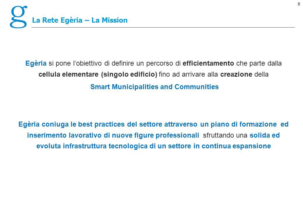 8 La Rete Egèria – La Mission Egèria si pone l'obiettivo di definire un percorso di efficientamento che parte dalla cellula elementare (singolo edific