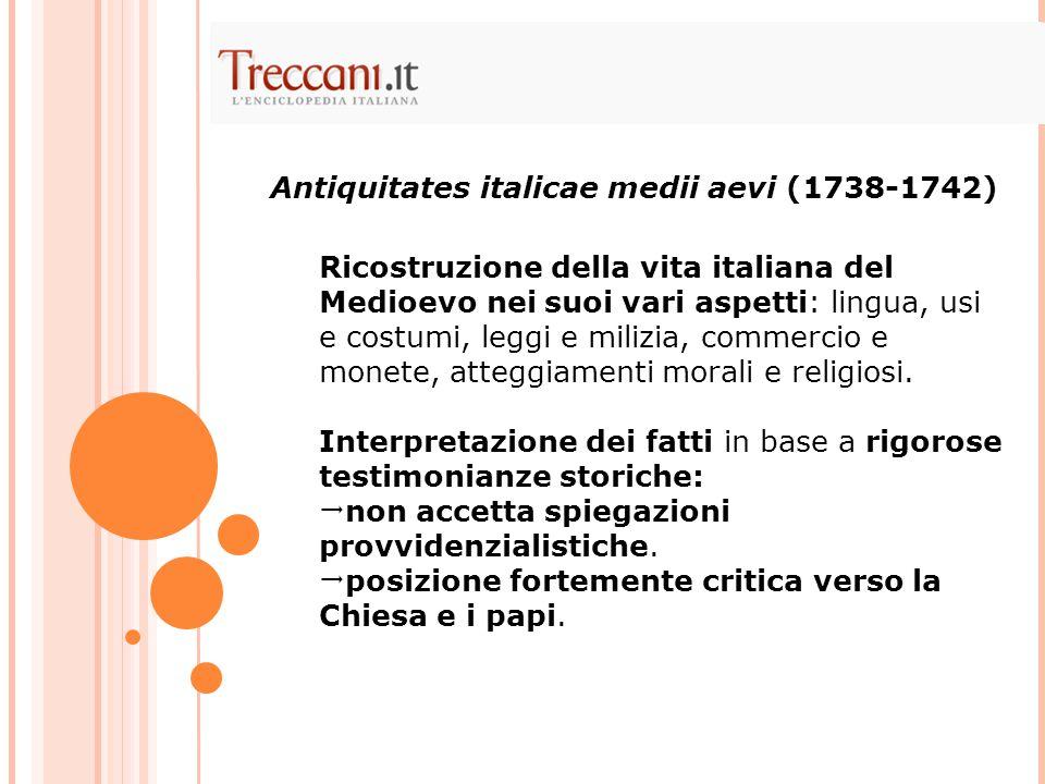Ricostruzione della vita italiana del Medioevo nei suoi vari aspetti: lingua, usi e costumi, leggi e milizia, commercio e monete, atteggiamenti morali