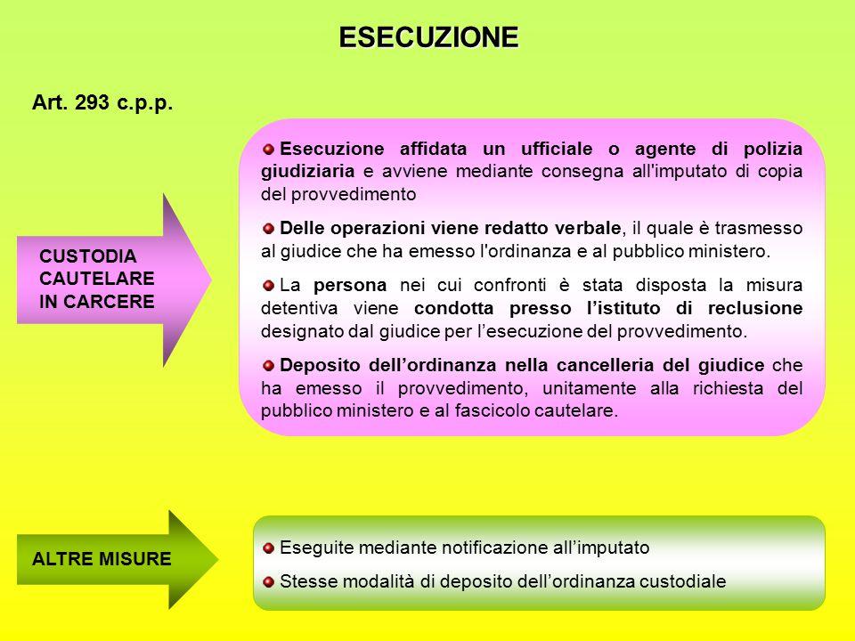 ESECUZIONE Art.293 c.p.p.