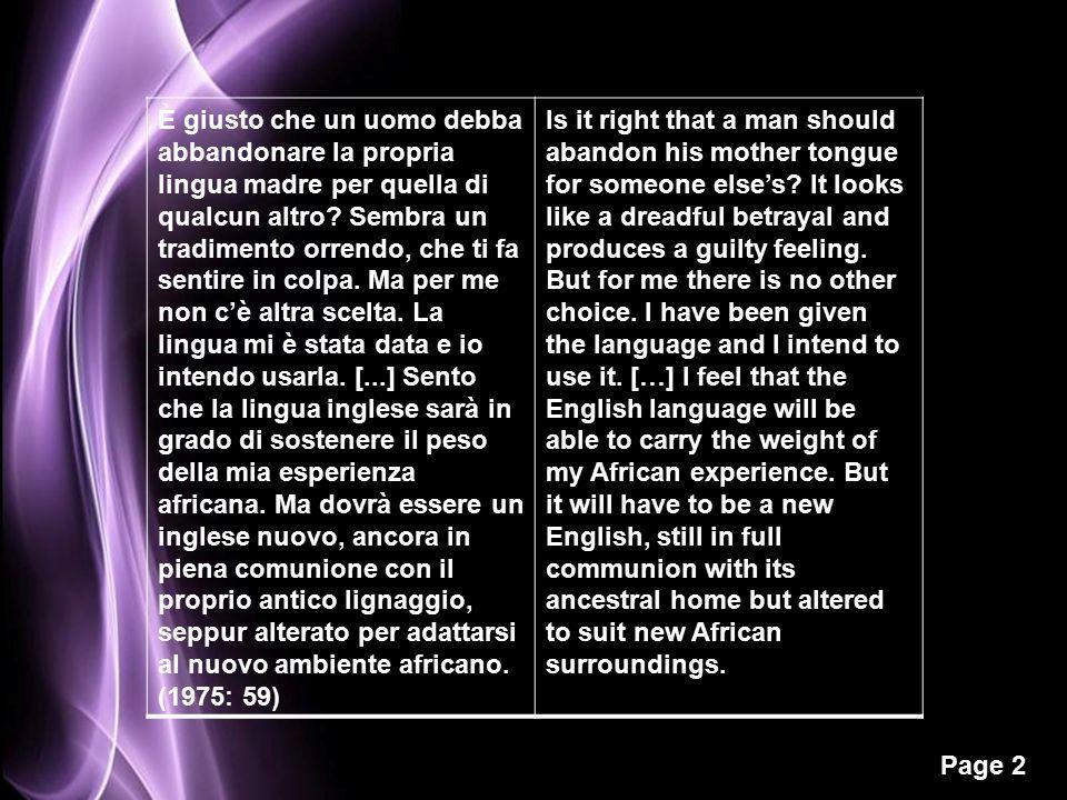 Page 2 È giusto che un uomo debba abbandonare la propria lingua madre per quella di qualcun altro.