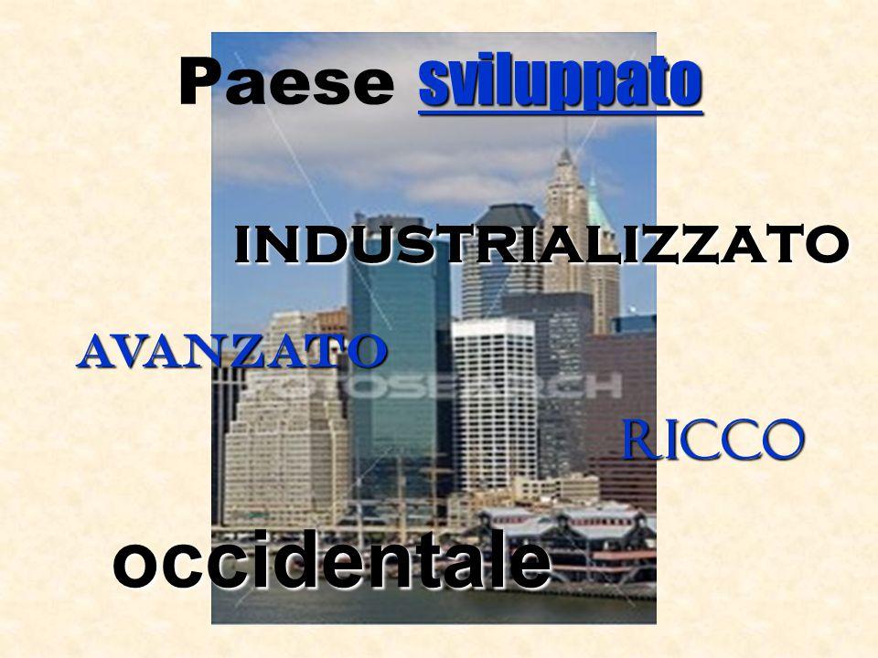 sviluppato Paese sviluppato industrializzato avanzato ricco occidentale
