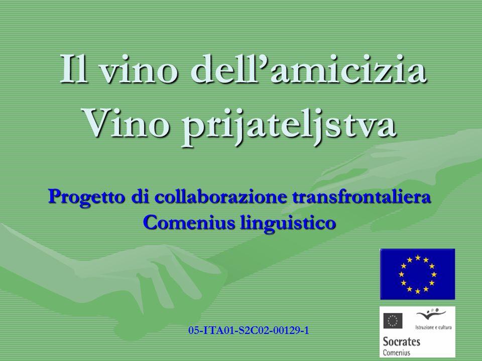 Progetto di collaborazione transfrontaliera Comenius linguistico Il vino dell'amicizia 05-ITA01-S2C02-00129-1 Vino prijateljstva