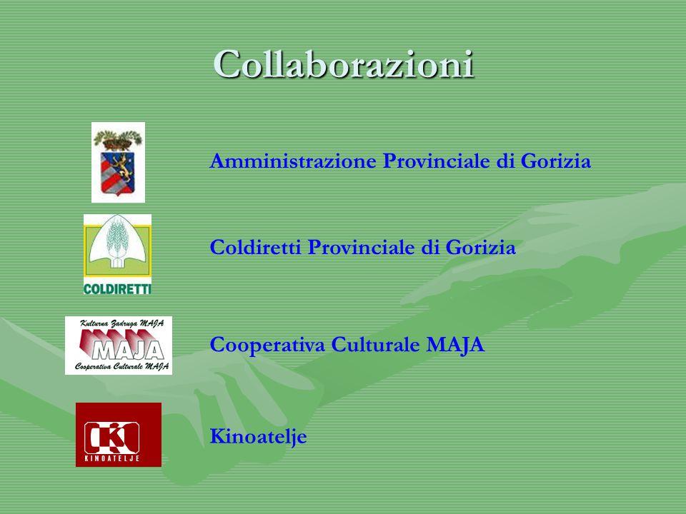 Collaborazioni Amministrazione Provinciale di Gorizia Coldiretti Provinciale di Gorizia Cooperativa Culturale MAJA Kinoatelje