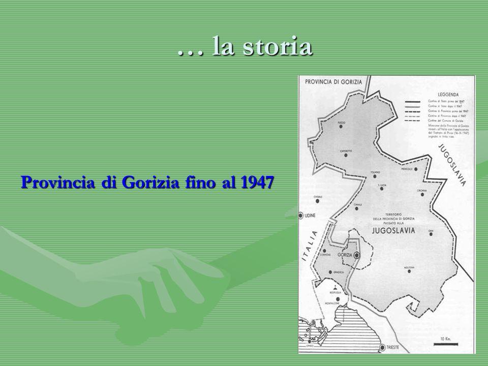 … la storia Provincia di Gorizia fino al 1947