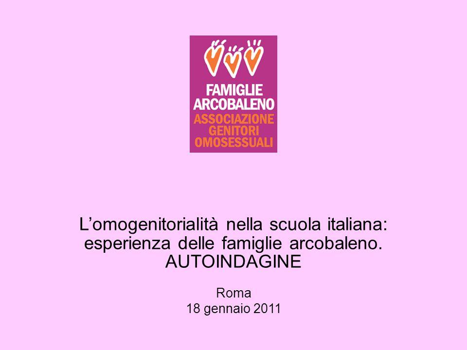 L'omogenitorialità nella scuola italiana: esperienza delle famiglie arcobaleno.