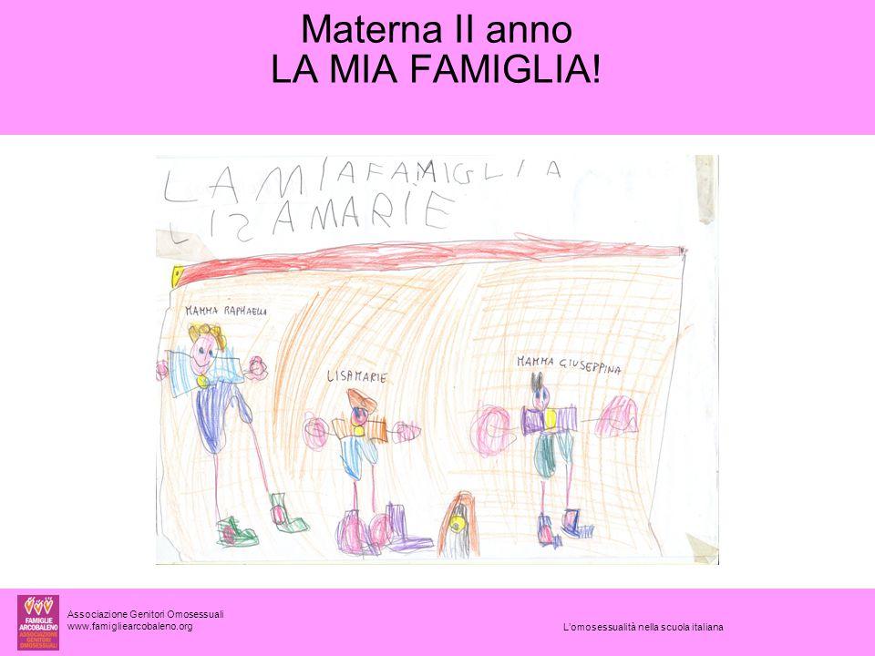 Associazione Genitori Omosessuali www.famigliearcobaleno.org Materna II anno LA MIA FAMIGLIA.