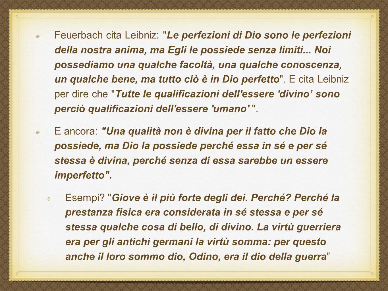 Feuerbach cita Leibniz: