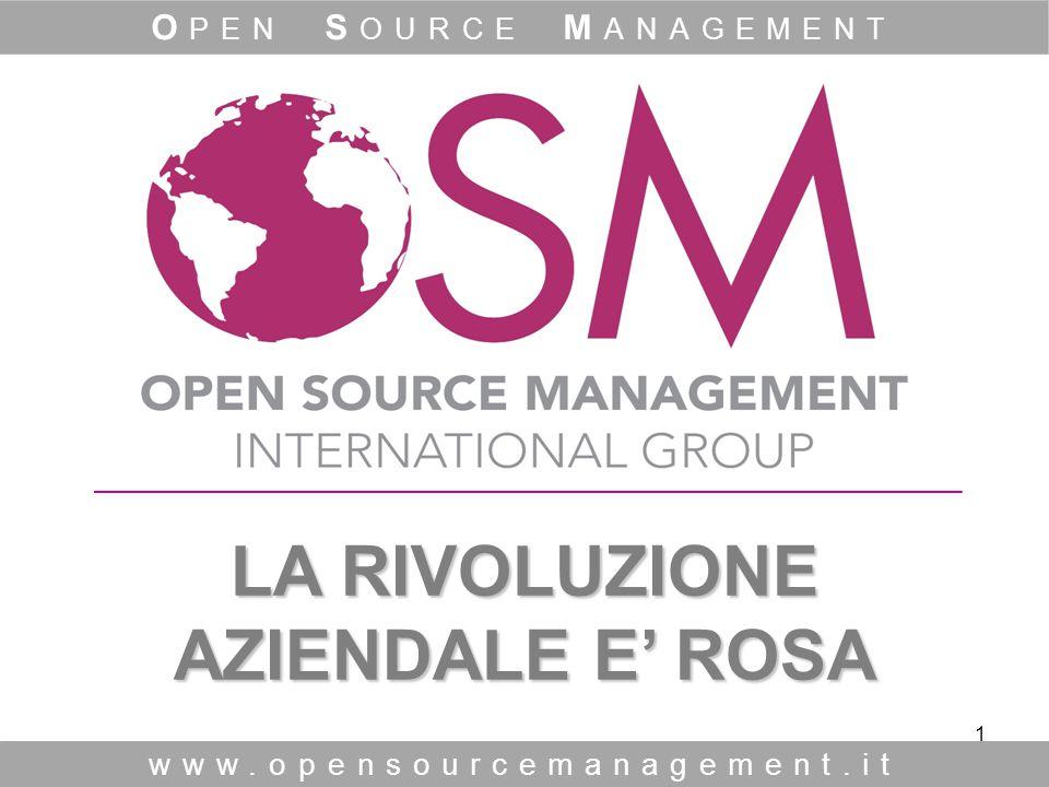 1 LA RIVOLUZIONE AZIENDALE E' ROSA LA RIVOLUZIONE AZIENDALE E' ROSA www.opensourcemanagement.it O PEN S OURCE M ANAGEMENT