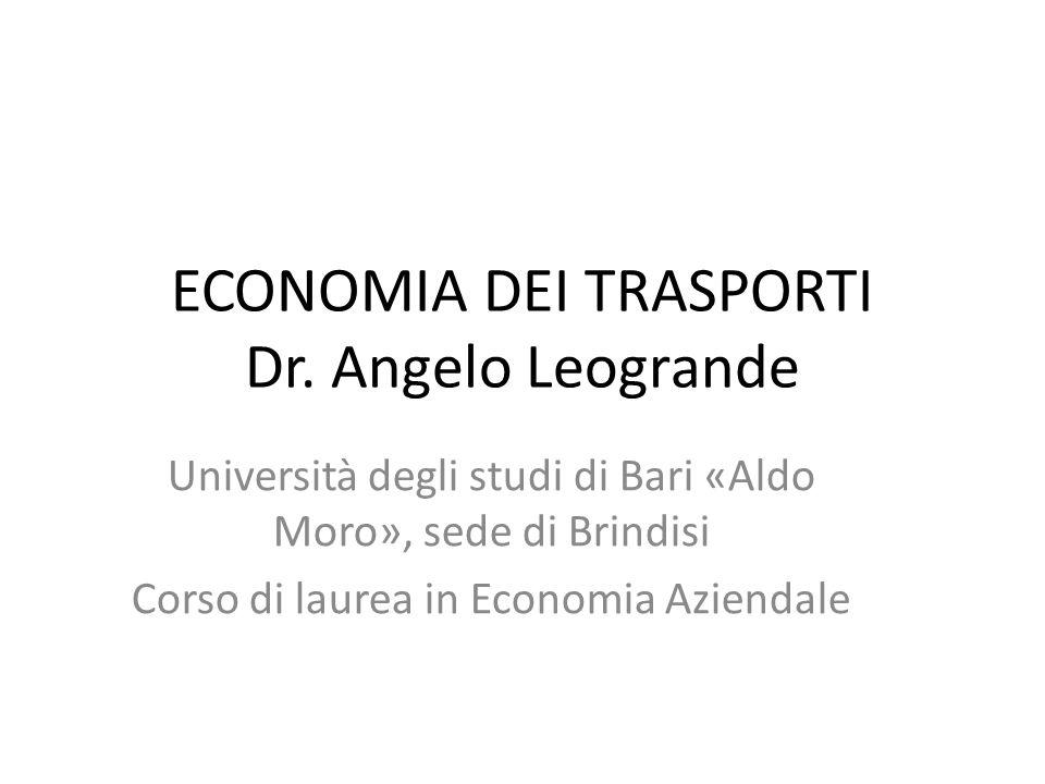 ECONOMIA DEI TRASPORTI Dr.