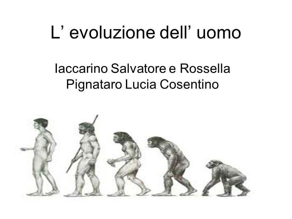 L' evoluzione dell' uomo Iaccarino Salvatore e Rossella Pignataro Lucia Cosentino
