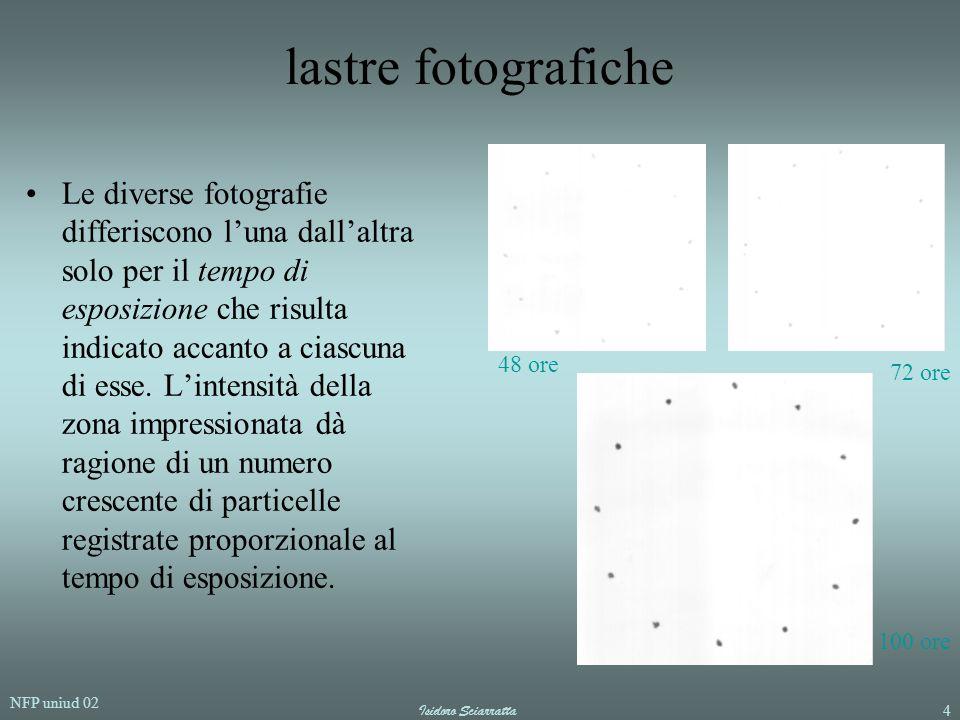 NFP uniud 02 Isidoro Sciarratta4 lastre fotografiche Le diverse fotografie differiscono l'una dall'altra solo per il tempo di esposizione che risulta