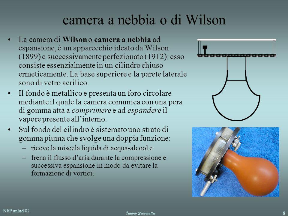 NFP uniud 02 Isidoro Sciarratta8 camera a nebbia o di Wilson La camera di Wilson o camera a nebbia ad espansione, è un apparecchio ideato da Wilson (1