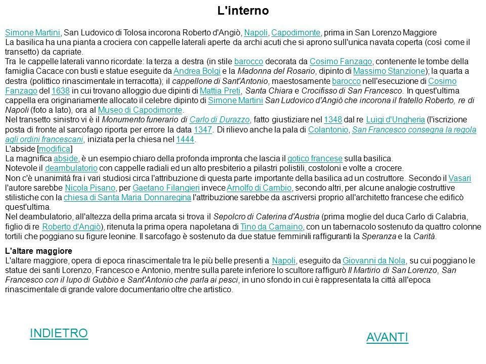 L'interno Simone MartiniSimone Martini, San Ludovico di Tolosa incorona Roberto d'Angiò, Napoli, Capodimonte, prima in San Lorenzo MaggioreNapoliCapod