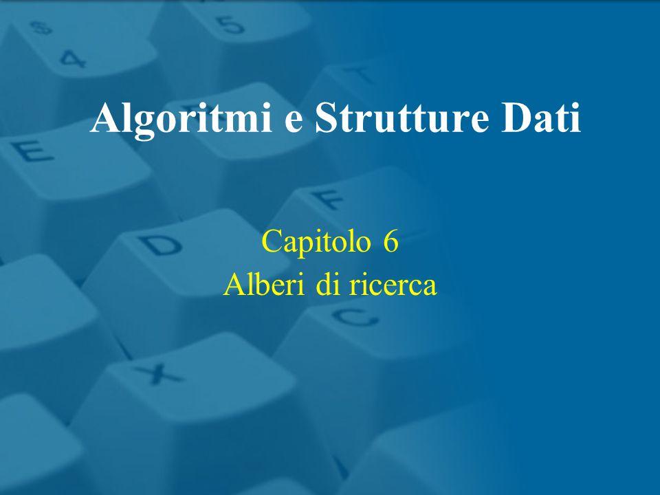 Capitolo 6 Alberi di ricerca Algoritmi e Strutture Dati