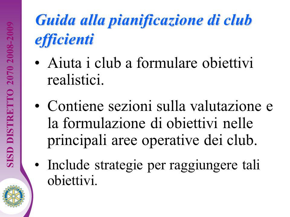 Distretto XXXX Seminario di formazione della squadra distrettuale. Guida per dirigenti 10 Guida alla pianificazione di club efficienti Aiuta i club a