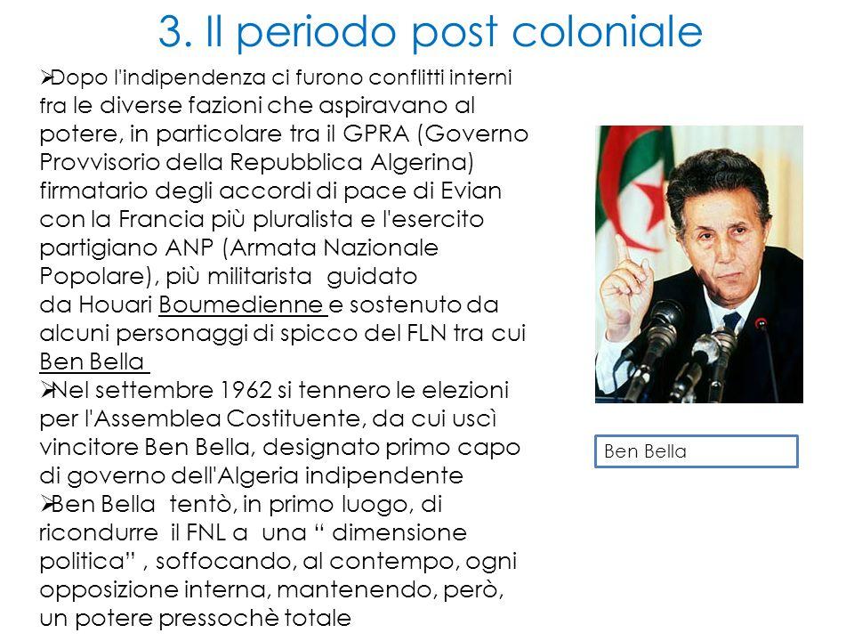  Dopo l'indipendenza ci furono conflitti interni fra le diverse fazioni che aspiravano al potere, in particolare tra il GPRA (Governo Provvisorio del