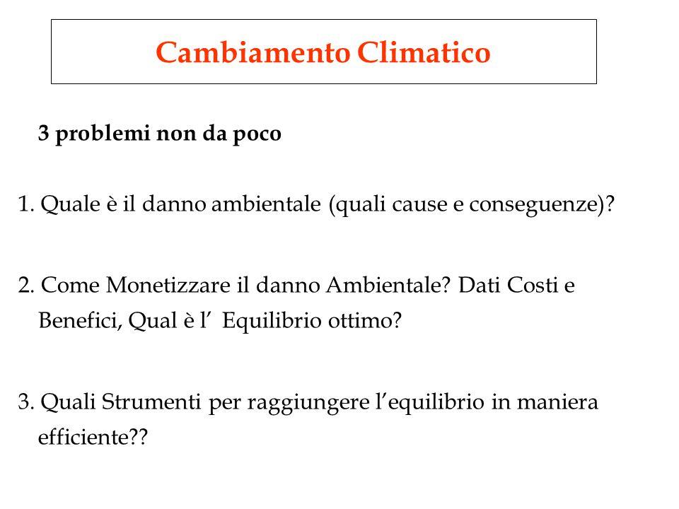 3 problemi non da poco 1. Quale è il danno ambientale (quali cause e conseguenze).