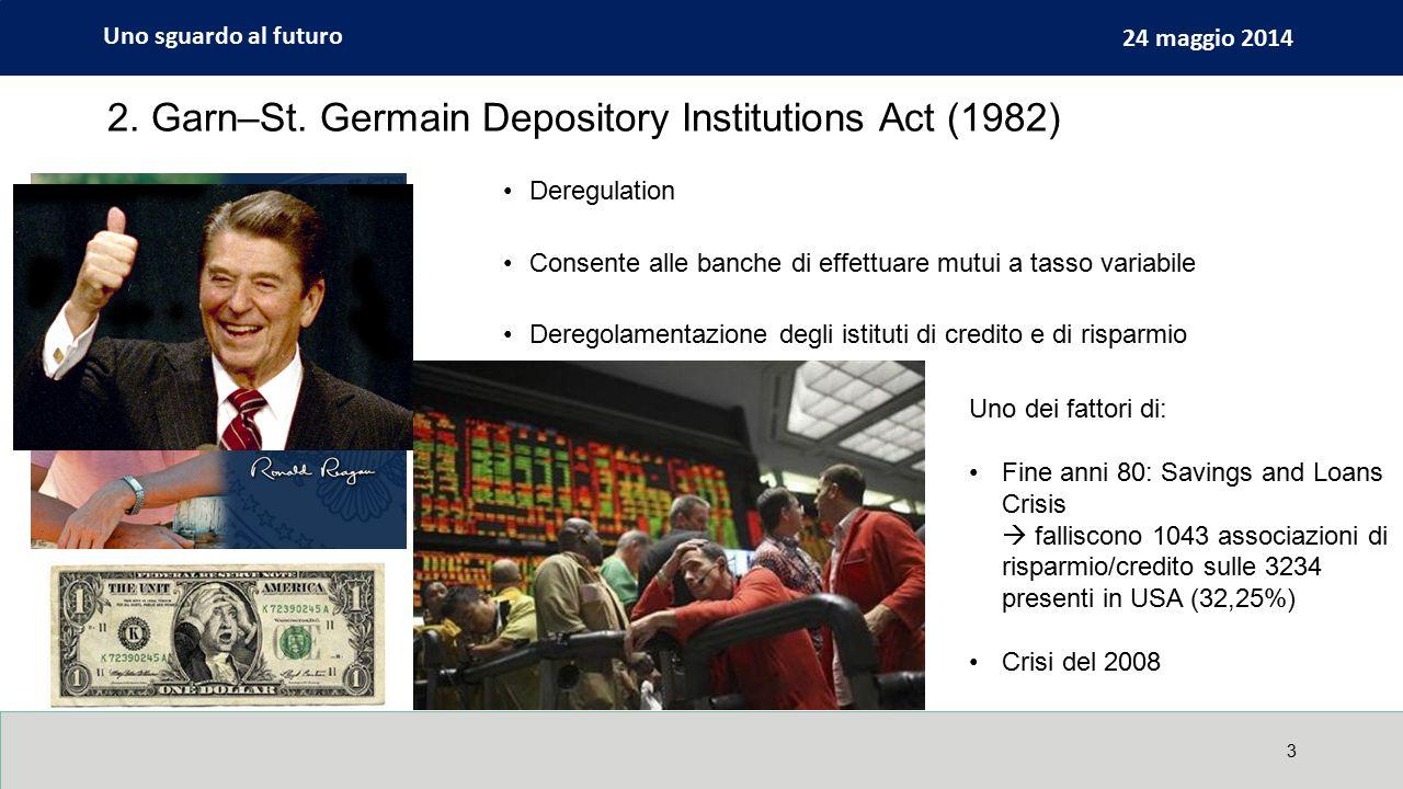 Uno sguardo al futuro 24 maggio 2014 4 La bolla immobiliare e le politiche USA per la casa Le politiche USA per l'immigrazione qualificata Il debito pubblico italiano E altri ancora Altri esempi